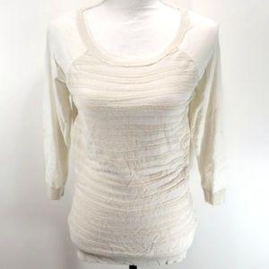 Cream sweater Pull Over Sz Medium Nude Neutral